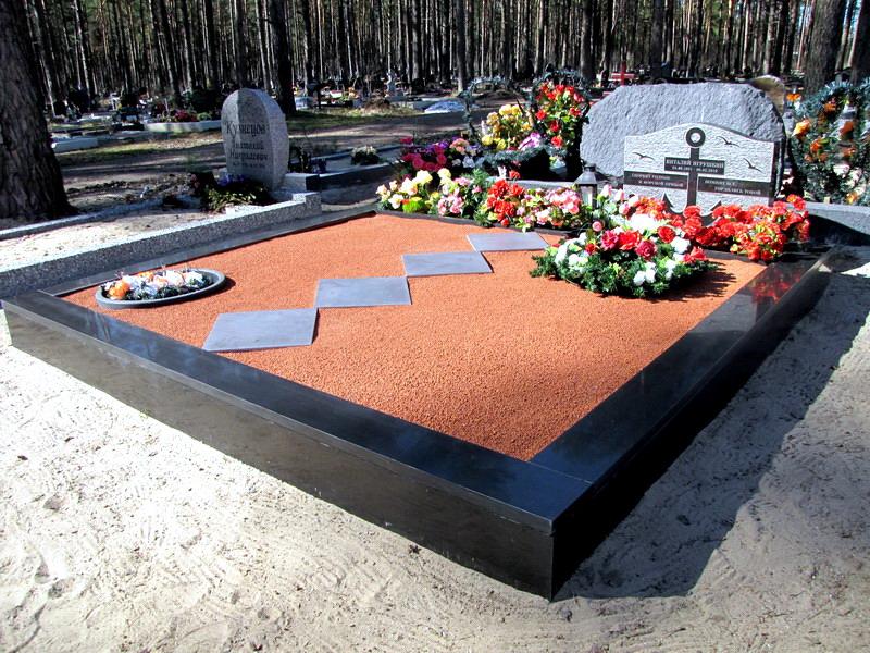 места захоронения каменной крошкой